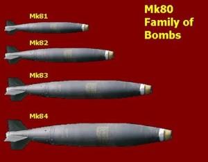 """A szabadesésű, azaz a """"buta"""" bombák."""