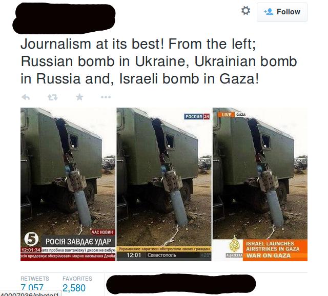 Ez a szegény rakéta többször is becsapódott. Vajon a hírek fogyasztója hányszor csapódik be egy nap?