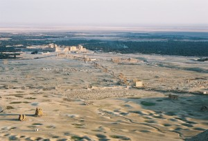 Palmüra madártávlatból
