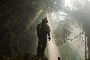 The forest-shrouded entrance to Hang Son Doong.