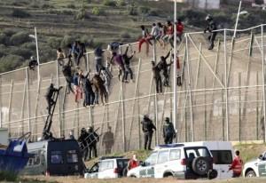 Migrants Storm Spain-Morocco Border Fence