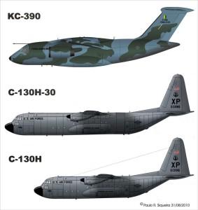 A jól bevált C-130 két törzshosszal is rendelhető, a hosszabb már akkora, mint az Embraer újdonsága.